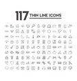 set of 120 icons with different themes vector image