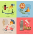 Set of Italy travel compositions with place for vector image vector image