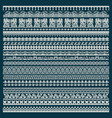 set of lace trims vector image vector image