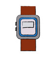 smartwatch clock wearable technology icon vector image vector image