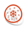 Snow sign sticker orange vector image vector image