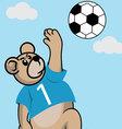 Soccer Bear vector image vector image