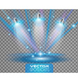 Spotlights scene with different source of lights vector image vector image