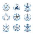 stars emblems set heraldic coat of arms vector image vector image