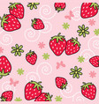 strawberry pattern 02 vector image vector image