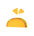 taco and nachos isolated on a white background vector image
