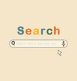 trendy and colorful cute search bar icon vector image