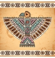 Tribal native American eagle symbols vector image vector image