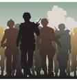 Troops walking vector image vector image