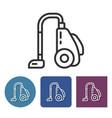 vacuum cleaner line icon in different variants vector image vector image