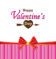 Valentines Day and gift on white and pink vector image vector image