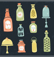 vintage jars vector image