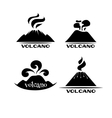 Volcano set Logotypes and signs vector image