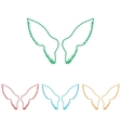 Wings sign Colorfull set vector image