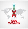 world aids vaccine day logo icon design vector image vector image