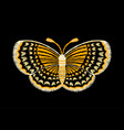 yellow butterfly embroidery vector image vector image