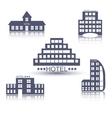 Hotel buildings flat design set vector image
