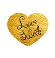 Heart Love Gold Watercolor Texture Paint Stain vector image