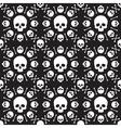 skull pattern 1 vector image