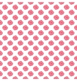 Watercolor seamless pattern with red roses on the vector image