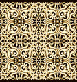 abstract bright floral seamless pattern in brown vector image