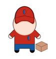 profession character delivery man vector image