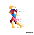 Running man colorful icon vector image