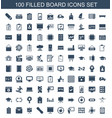 100 board icons vector image vector image