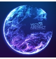 Abstract demolished sphere background vector image vector image