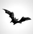 Abstract geometric polygonal halloween bat vector image