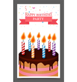 Birthday greeting and Invitation card design vector image