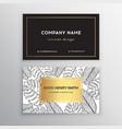 Business cards gold design tropical leaf