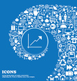 Chart icon sign Nice set of beautiful icons vector image