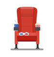 cinema red comfortable seat vector image vector image