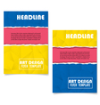 Colorful Geometric Book Cover Layout Design vector image