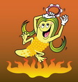Corn cartoon character vector image vector image
