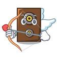 cupid speaker character cartoon style vector image