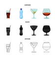 design of drink and bar symbol collection vector image vector image