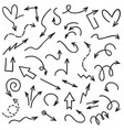 doodle arrows handwriting scribble sketch line vector image vector image