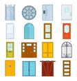 Doors isolated vector image