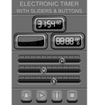 electronic timer with sliders and buttons vector image