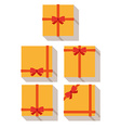 flat style wrapped gift or gift card vector image vector image