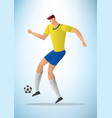 football player 21 vector image vector image