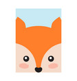 fox head book cover design vector image vector image