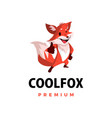 fox thumb up mascot character logo icon vector image vector image