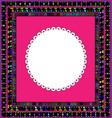 frame and white napkin vector image