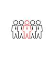 group thin line people like leadership or vector image