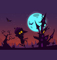 halloween cartoon background house vector image vector image
