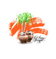 happy pongal greeting card to indian winter vector image vector image