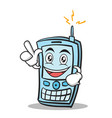 have an idea phone character cartoon style vector image vector image